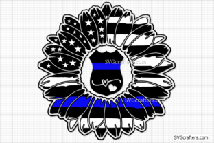 Print on Demand: Police Sunflower Flag SVG, Police SVG Graphic Crafts By SVGcrafters