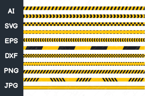 Print on Demand: Quarantine Tape.Yellow Black Tape. Svg Graphic Illustrations By CRStocker