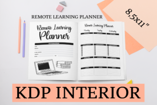Print on Demand: Remote Learning Planner | KDP Interior Graphic KDP Interiors By KDP Mastermind