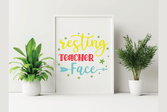 Resting Teacher Face Graphic Crafts By craftstore