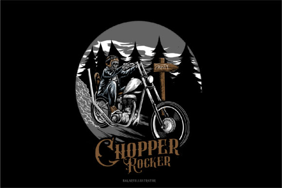 Riders Motorcycle Graphic Illustrations By Bakartillustrator