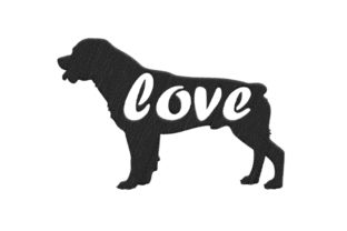 Rottweiler Silhouette Dogs Embroidery Design By SweetDesign