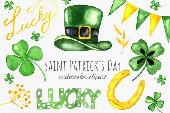 Saint Patricks Day. Holiday Clipart Graphic Illustrations By RedDotsHouse