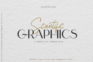 Print on Demand: Scientific Graphics Sans Serif Font By Wildancarbon