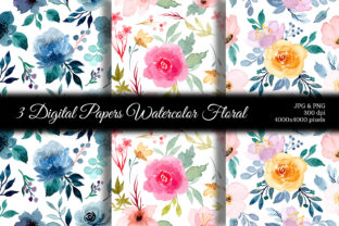 Print on Demand: Seamless Pattern Floral Watercolor 121 Graphic Patterns By asrulaqroni 1