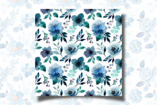 Print on Demand: Seamless Pattern Floral Watercolor 121 Graphic Patterns By asrulaqroni 2