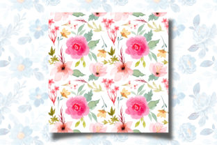 Print on Demand: Seamless Pattern Floral Watercolor 121 Graphic Patterns By asrulaqroni 3