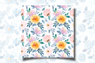 Print on Demand: Seamless Pattern Floral Watercolor 121 Graphic Patterns By asrulaqroni 4