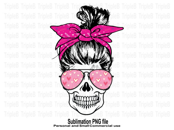 Print on Demand: Skull Funny Valentine's Sublimation 1 Graphic Crafts By TripleBcraft