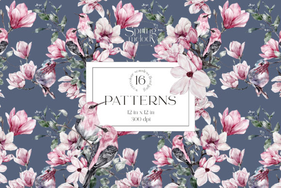 Print on Demand: Spring Watercolor Seamless Patterns Graphic Illustrations By Busy May Studio