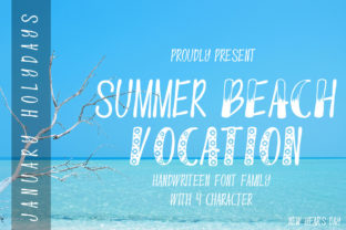 Print on Demand: Summer Beach Vocation Display Font By edwar.sp111