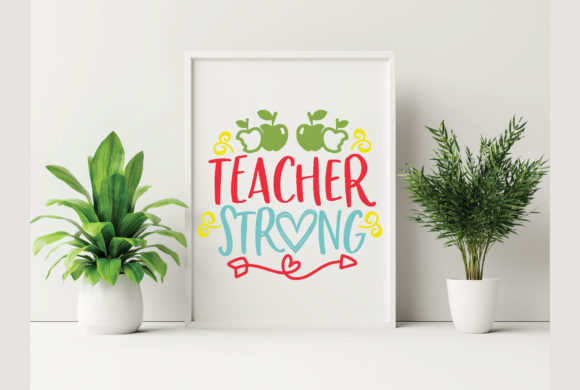Teacher Strong Graphic Crafts By craftstore