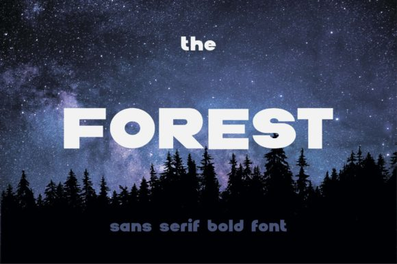 Print on Demand: The Forest Sans Serif Font By dsfractal
