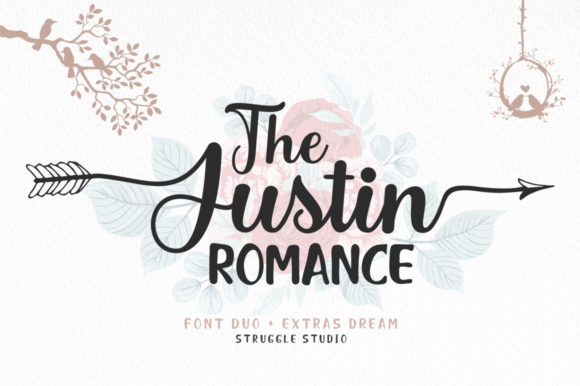 Print on Demand: The Justin Romance Script & Handwritten Font By Struggle Studio