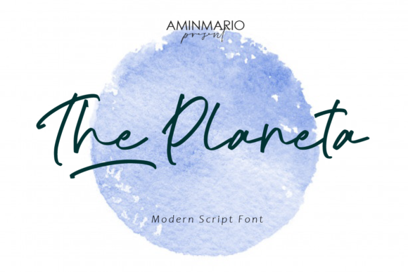 Print on Demand: The Planeta Script & Handwritten Font By aminmario