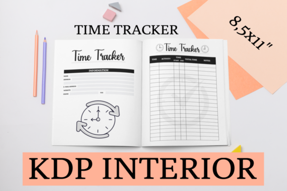 Print on Demand: Time Tracker | KDP Tracker Graphic KDP Interiors By KDP Mastermind