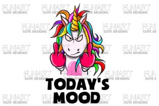 Today's Mood , Unicorn , PNG Graphic Illustrations By Fundesings