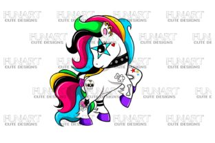 Unicorn, Tattoos,PNG File Digital Design Graphic Illustrations By Fundesings