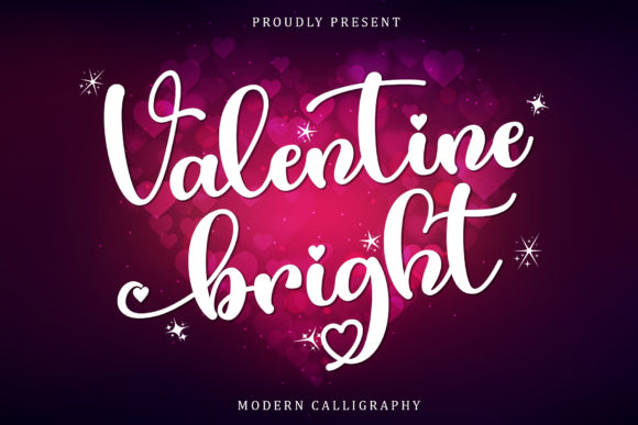 Print on Demand: Valentine Bright Script & Handwritten Font By Sakha Design