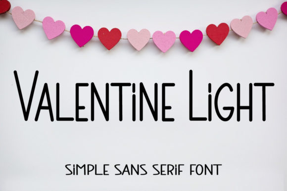Print on Demand: Valentine Light Sans Serif Font By Farz Studio