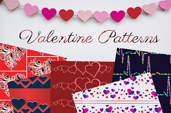 Valentine Pattern Backgrounds Graphic Backgrounds By Subi Designs
