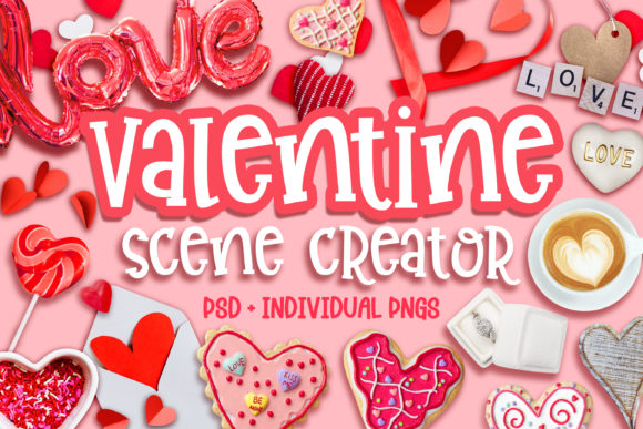 Valentine Scene Creator Graphic Product Mockups By Brushed Rose