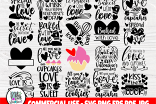 Print on Demand: Valentine's Day Pot Holder SVG Bundle Graphic Crafts By nibaartstudio