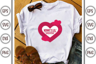 Print on Demand: Valentines Day SVG Design, Mommy's Lil' Graphic Print Templates By GraphicsBooth