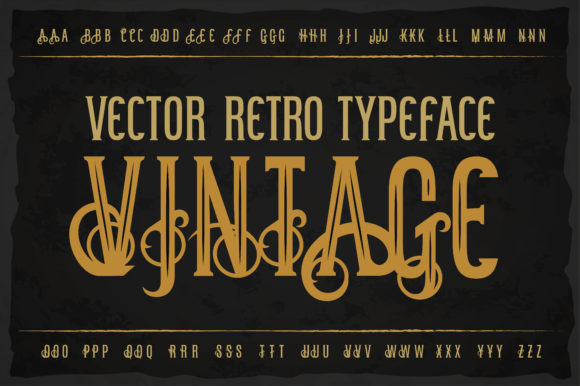 Print on Demand: Vintage Display Font By dsfractal