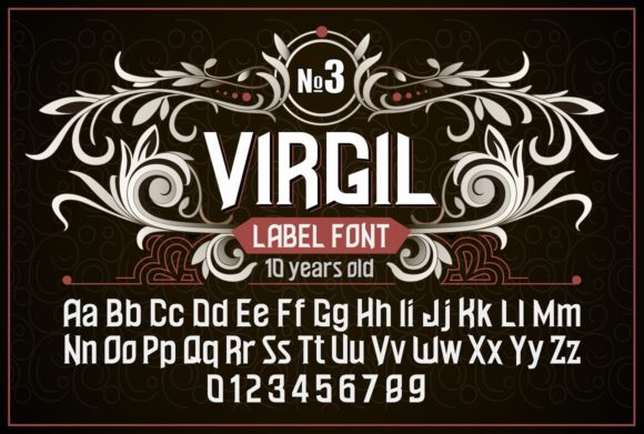 Print on Demand: Virgil Display Font By dsfractal