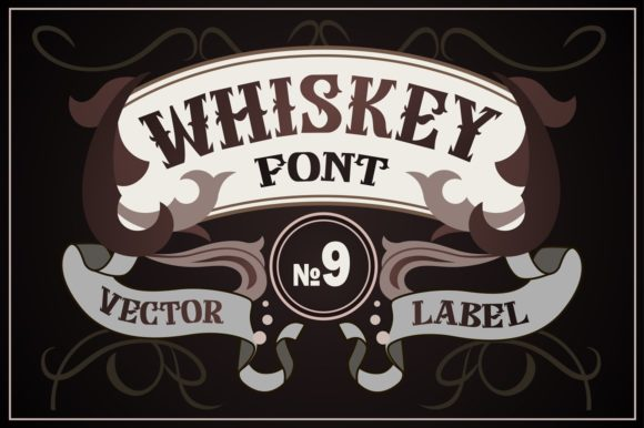 Print on Demand: Whiskey Blackletter Font By dsfractal