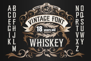 Print on Demand: Whiskey Display Font By Fractal font factory 1