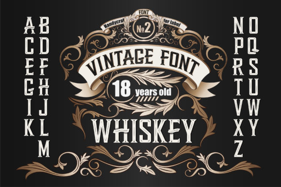 Print on Demand: Whiskey Display Font By dsfractal