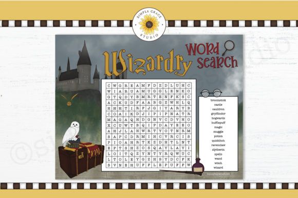 Wizardry Word Search Graphic Teaching Materials By Simple Grace Studio