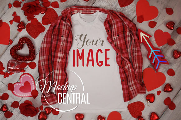 Woman's T-Shirt Apparel Love Mockup Graphic Product Mockups By Mockup Central