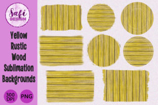 Print on Demand: Yellow Wood Sublimation Backgrounds Graphic Backgrounds By Safi Designs