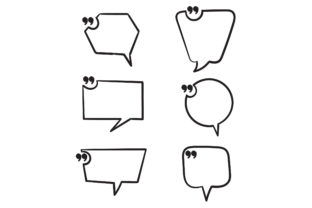 Print on Demand: Doodle Quotes Frames Graphic Icons By GwensGraphicstudio