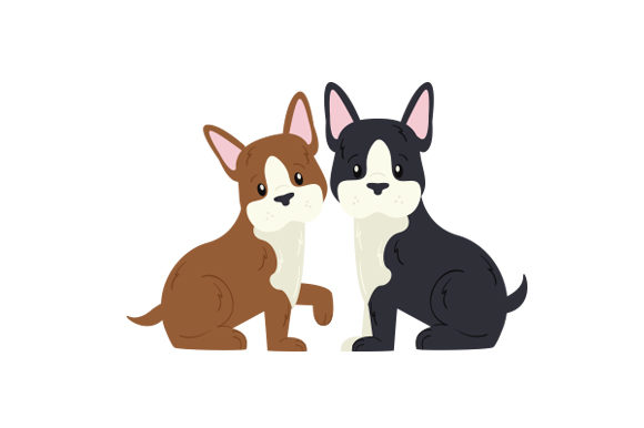 Boston Terrier Puppies Animals Craft Cut File By Creative Fabrica Crafts