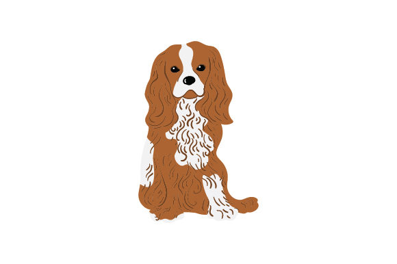 Bicolor Cavalier King Charles Spaniels Dogs Craft Cut File By Creative Fabrica Crafts