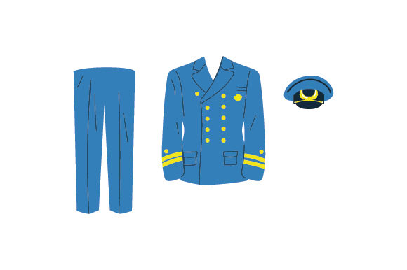 Blue Royal Navy Uniform Diseños sobre Reino Unido Archivo de Corte Craft Por Creative Fabrica Crafts