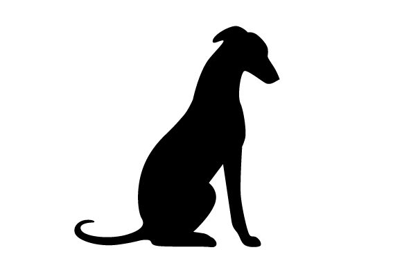 Silhouette Sitting Greyhound Dogs Craft Cut File By Creative Fabrica Crafts
