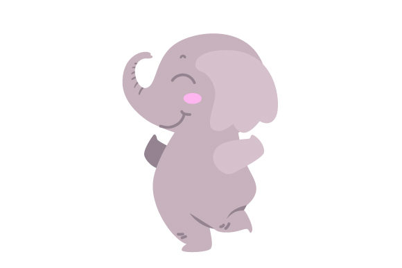 Baby Elephant Jumping Cut File