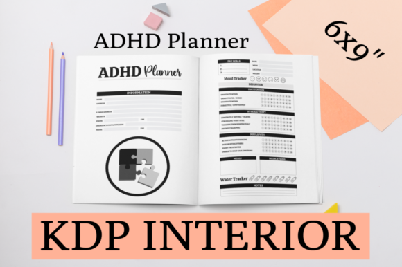 Print on Demand: ADHD Planner | KDP Interior Graphic KDP Interiors By KDP Mastermind