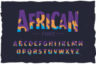 Print on Demand: African Color Fonts Font By Fractal font factory