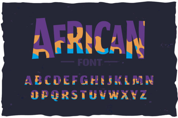 Print on Demand: African Color Fonts Font By dsfractal