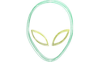 Alien Scribble Stitch Robots & Space Embroidery Design By SweetDesign