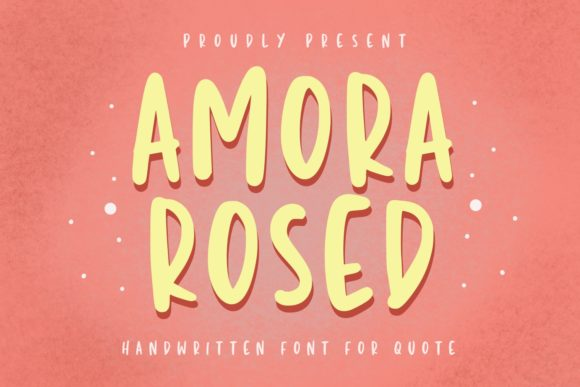 Print on Demand: Amora Rosed Script & Handwritten Font By Typefar