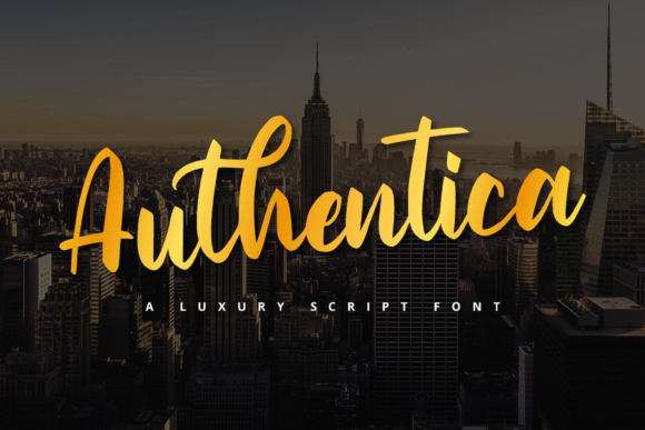Print on Demand: Authentica Script & Handwritten Font By Graphue