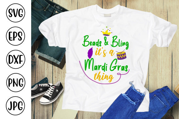 Beads & Bling It's a Mardi Gras Thing Graphic Crafts By ismetarabd