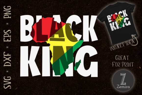 Print on Demand: Black King Black History Month Africa Graphic Print Templates By Zemira